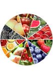 Fruit banners collage Stock Images