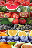 Fruit banners collage Royalty Free Stock Photos