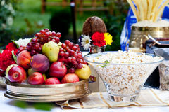 Fruit on a banquet table Royalty Free Stock Photography