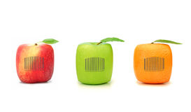 Fruit bar code Royalty Free Stock Image