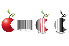Fruit barcode. On a white background Royalty Free Stock Photo
