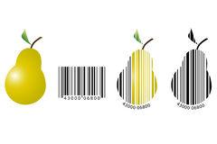Fruit barcode royalty free stock photo