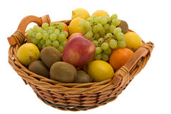 Fruit basket. With different fruits Royalty Free Stock Image