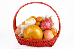 Fruit in the basket Royalty Free Stock Photos