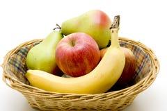 Fruit basket. Freshes fruit on the basket Royalty Free Stock Photos