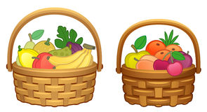 Fruit in basket stock illustration