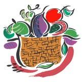 Fruit Basket. Basket of Fruit Displaying Fresh Objects Royalty Free Stock Images