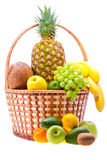 Fruit basket Stock Photo