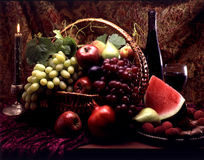 Fruit in basket Stock Photography