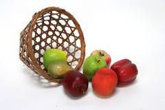 Fruit Basket. Droped Fruit Basket stock photo