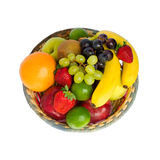 Fruit basket. In a white background Royalty Free Stock Photography