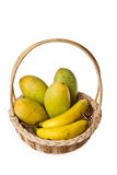 Fruit in the basket Stock Images