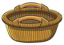Fruit Basket. Cartoon illustration of fruit basket made from rattan Royalty Free Stock Images