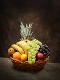 Fruit basket stock photo