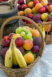 Fruit basket. View of some fruit baskets on a table Stock Photo