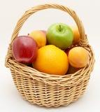 Fruit in basket. Fresh fruit in basket, close up Royalty Free Stock Photo