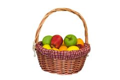 Fruit Basket. Isolated fruit basket Stock Photo