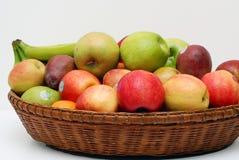 Fruit Basket. Basket full of a variet of fruit Royalty Free Stock Image