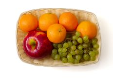 Fruit in the basket royalty free stock images