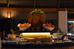Fruit basket. A fruit basket at a buffet dinner at Centara resort in maldives Royalty Free Stock Photo