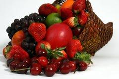 Fruit basket close-up. Fruit basket on white close-up Royalty Free Stock Image
