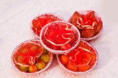 Fruit in basket stock photos