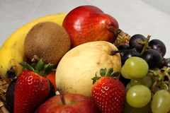 Fruit basket detail Royalty Free Stock Photos
