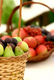 Fruit basket on display Stock Photo
