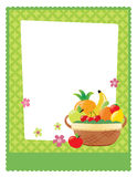 Fruit basket flyer template Royalty Free Stock Image