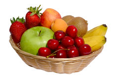 Fruit in basket Royalty Free Stock Images