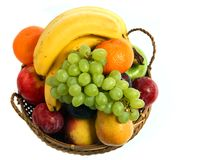 Free Fruit Basket From Above Stock Images - 4925274
