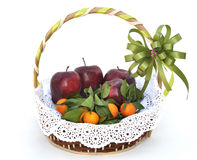 Fruit basket for gift Royalty Free Stock Photography