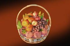 Fruit basket gift Royalty Free Stock Photography
