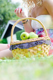 Fruit basket Royalty Free Stock Images
