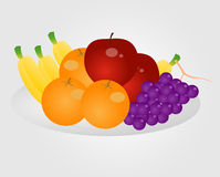 Fruit on the basket Stock Photos