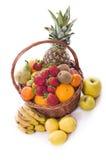 Healthy fruit basket. Stock Photo