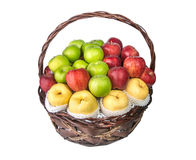 Fruit Basket isolated on white background Royalty Free Stock Image