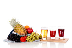 Fruit basket juice Stock Photography