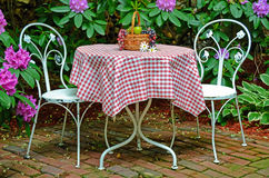 Fruit basket on old table Stock Image