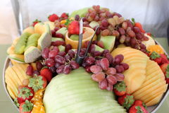 Fruit basket. A picture of a fruit basket royalty free stock images