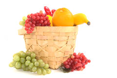 Fruit basket shot. A side view of a fruit basket Royalty Free Stock Image