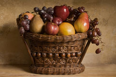 Fruit Basket Still Life Stock Images