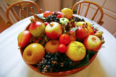 Fruit basket on the table Stock Image