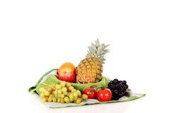 Fruit basket towel Stock Photos
