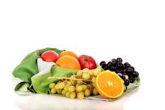 Fruit basket towel Stock Photography