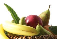 Fruit basket on white Royalty Free Stock Photos