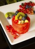 Fruit Basket on White Stock Image
