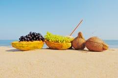 Fruit on beach Royalty Free Stock Photo