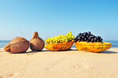 Fruit on the beach Royalty Free Stock Image