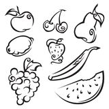 Fruit and berries. Set of fruit and berries Stock Photography